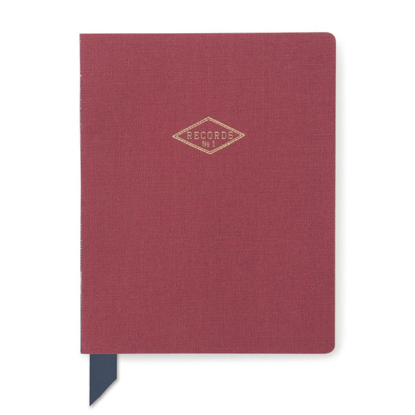 Exposed Spine Book Cloth Journal- Burgandy