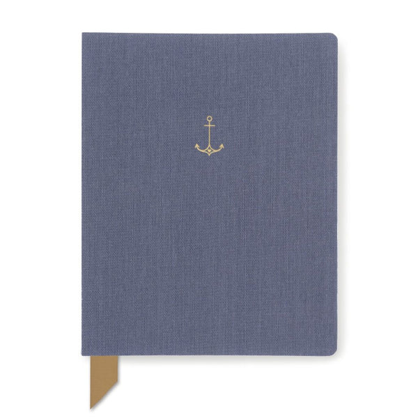 Exposed Spine Book Cloth Journal- Anchor Blue