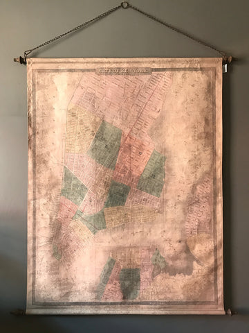 New York Map hanging