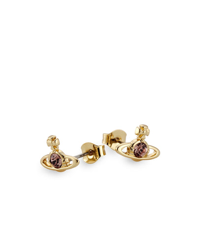 Vivienne Westwood Nano Solitaire Earrings - Light Topaz