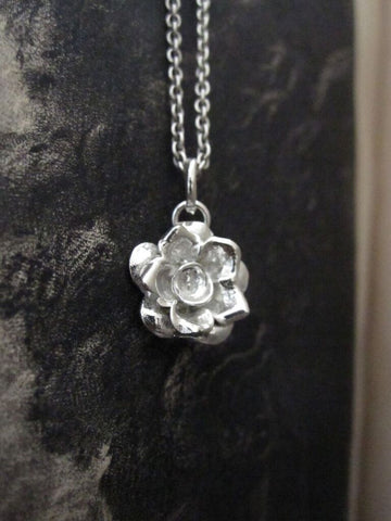 CollardManson 925 Silver Rose Necklace