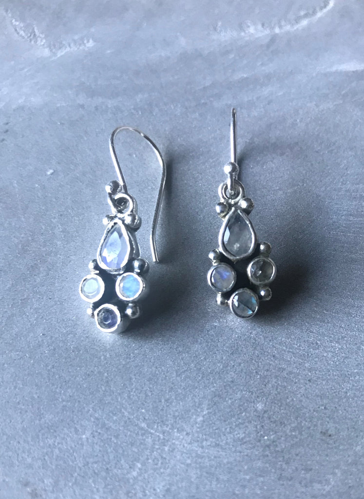 Pari drop earrings -Silver