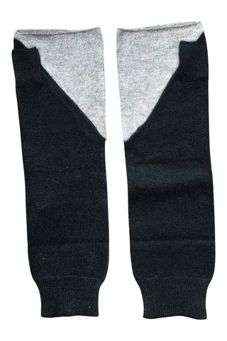 WDTS - Arm warmers in 2 tone grey / black wool