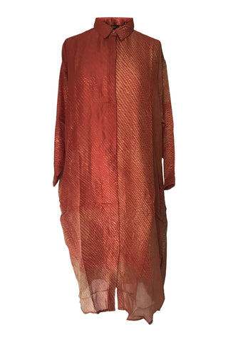 Yavi Raga Fern Silk Shirt Red
