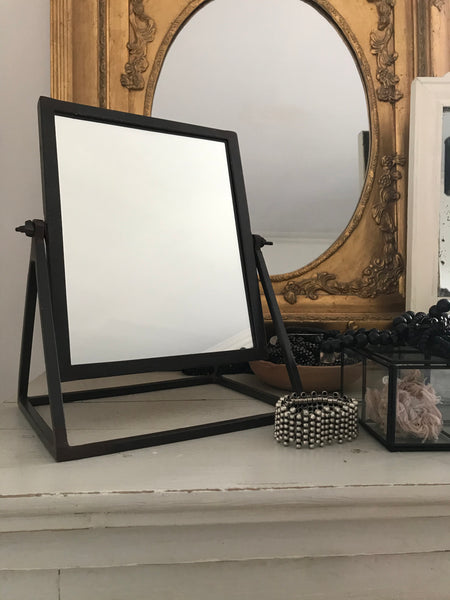 Table mirror - Iron with clear powder coating