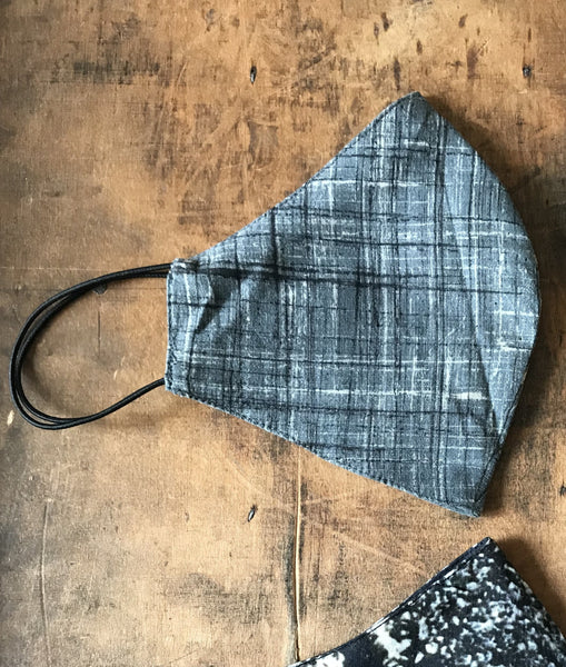 Shibori Mask - Grey