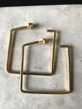 Squared Hoops - Gold