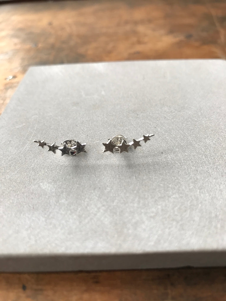 925 Silver Multi Star Stud Earrings
