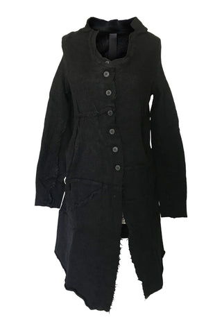 Rundholz AW20 3897202 knitted coat - black