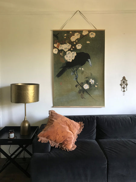 Canvas wall hanging - The Crow