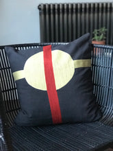 Embroidered cushion- black