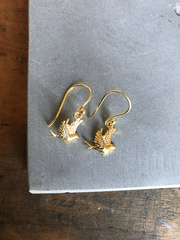 Little Bird Earrings - gold
