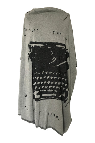 Rundholz SS21 1397001 Knitted Tunic - Black Print