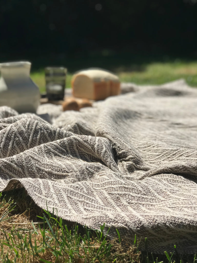 Cotton Throw- taupe