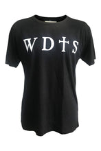 WDTS bamboo black t shirt logo on front