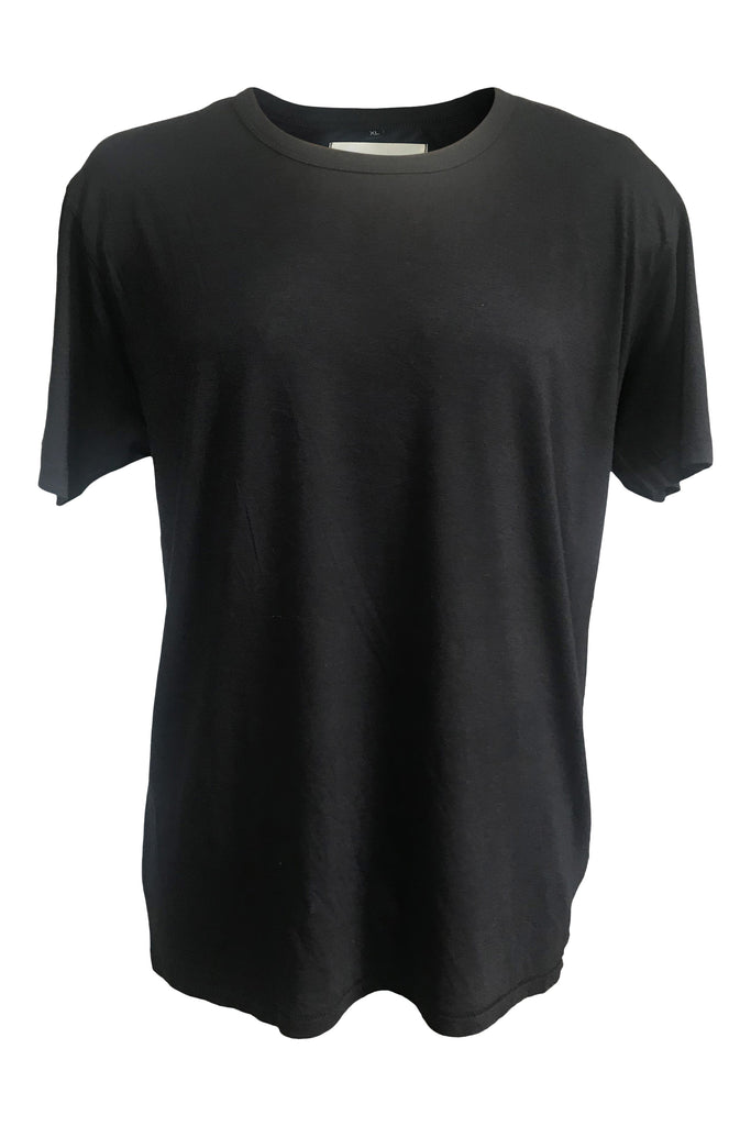 WDTS bamboo black t shirt logo on back