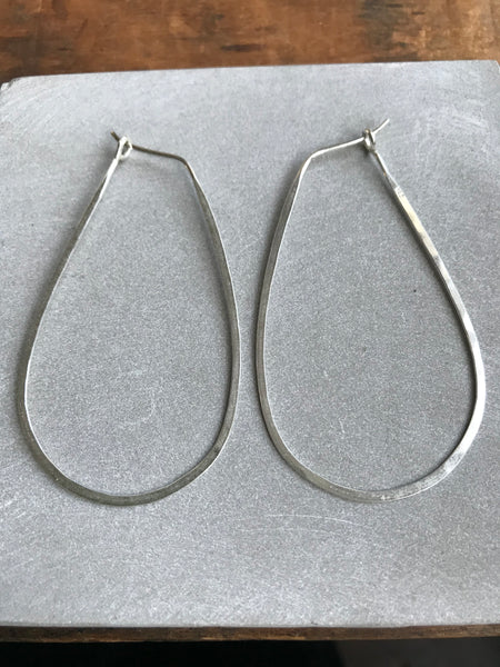 925 Silver Thin earrings - tear drop