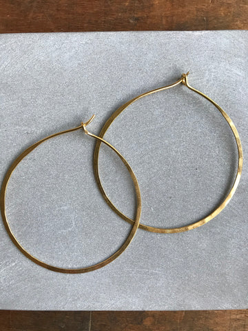 Gold plated 925 Silver Thin earrings - hoop