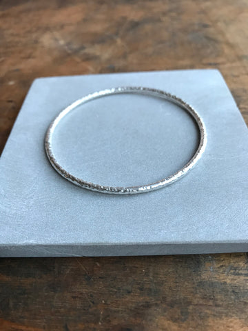 925 silver textured bangle