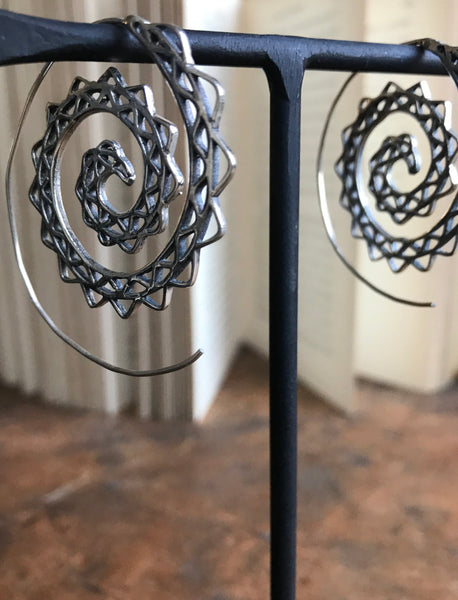 Spiral 925 Silver earrings