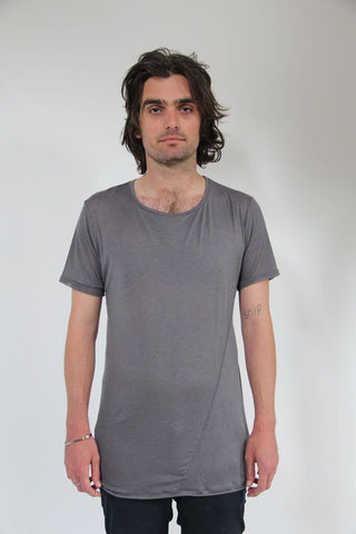 Window Dressing The Soul - No Print Twist T-Shirt Grey