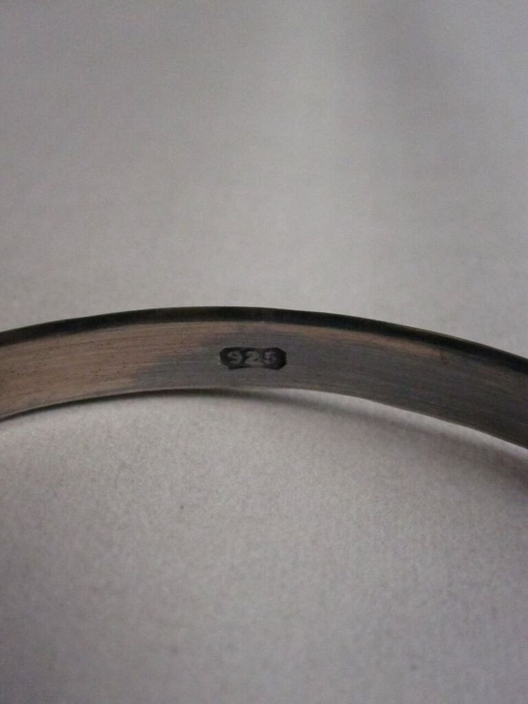 WDTS Sheffield Silver - Hand Hammered Bangle - FLOAT LIKE A BUTTERFLY STING LIKE A BEE - Mixed Finish