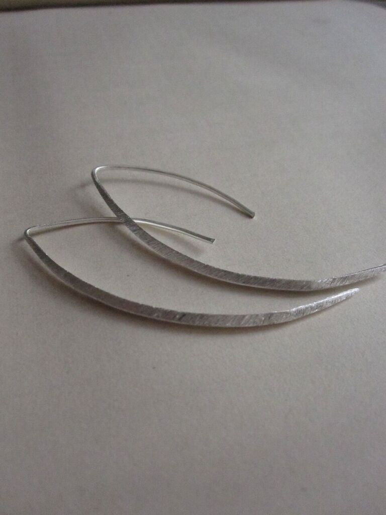 CollardManson 925 Silver Curved Drop Earrings