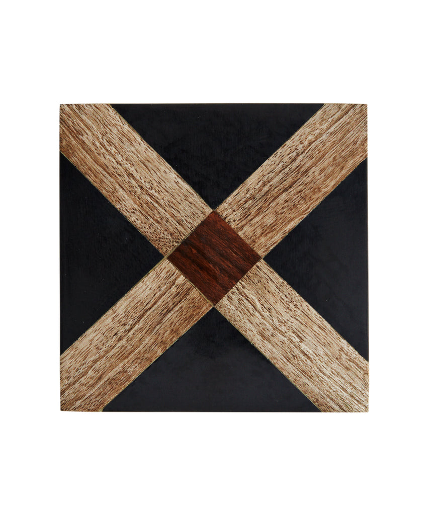 COASTERS BLACK, MANGO WOOD