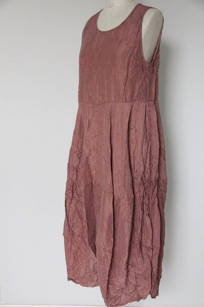 Transit Silk Dress - Rust