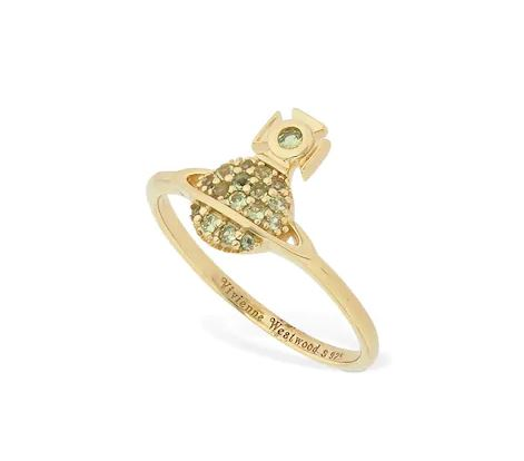 Vivienne Westwood Tamia Ring Gold Peridot CZ Plating