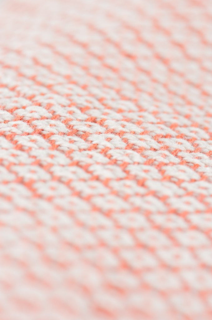 Cotton Diamond Weave Throw- Orange