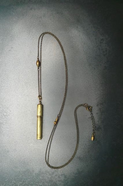 Compass lead case necklace