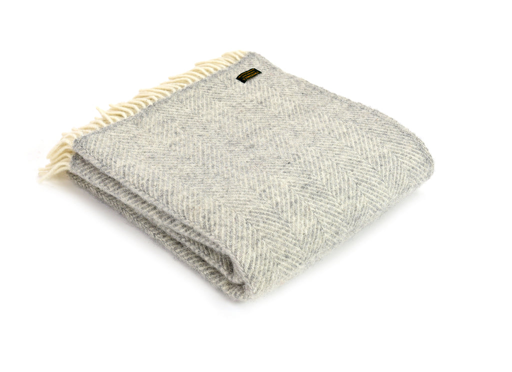 Wool throw - silver