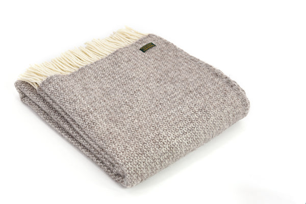 Wool knee rug -  Illusion NATURAL