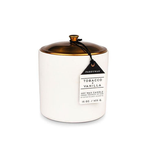 Paddy Wax Tobacco & Vanilla 15oz Hygge Candle