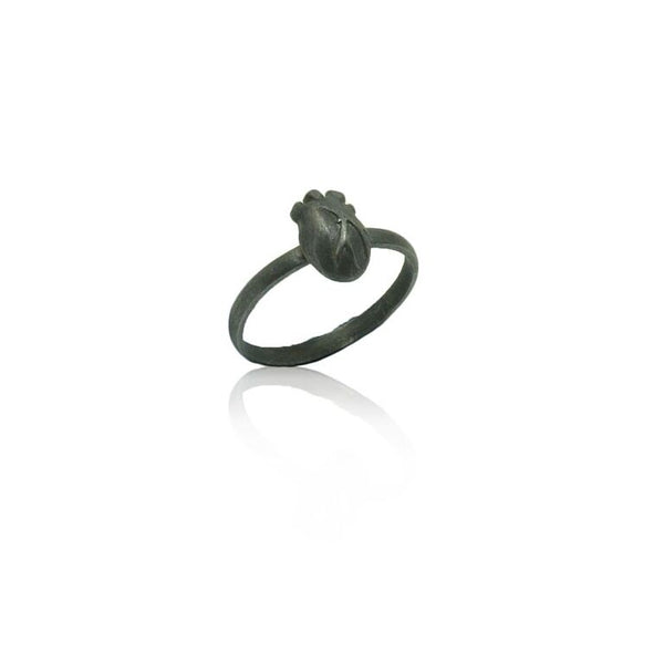 WDTS 925 silver Anatomical Heart Ring Oxidised