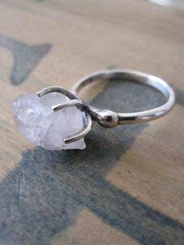 CollardManson 925 Silver Rose Quartz Ring
