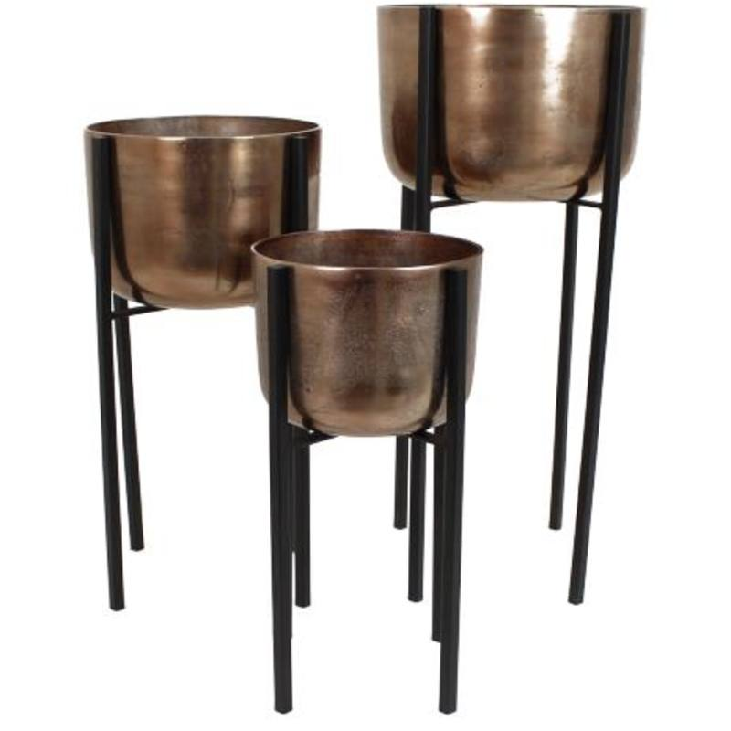 Planter on Stand - Copper colour - large