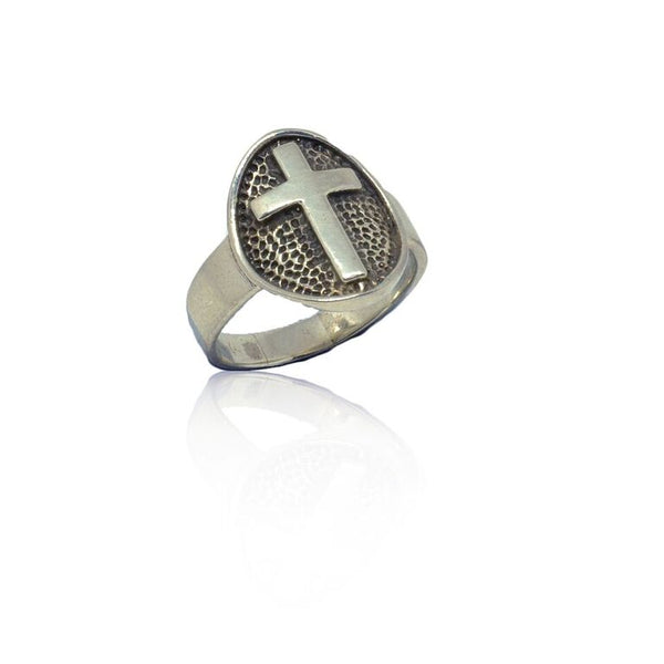 WDTS 925 Silver Oval Cross Ring