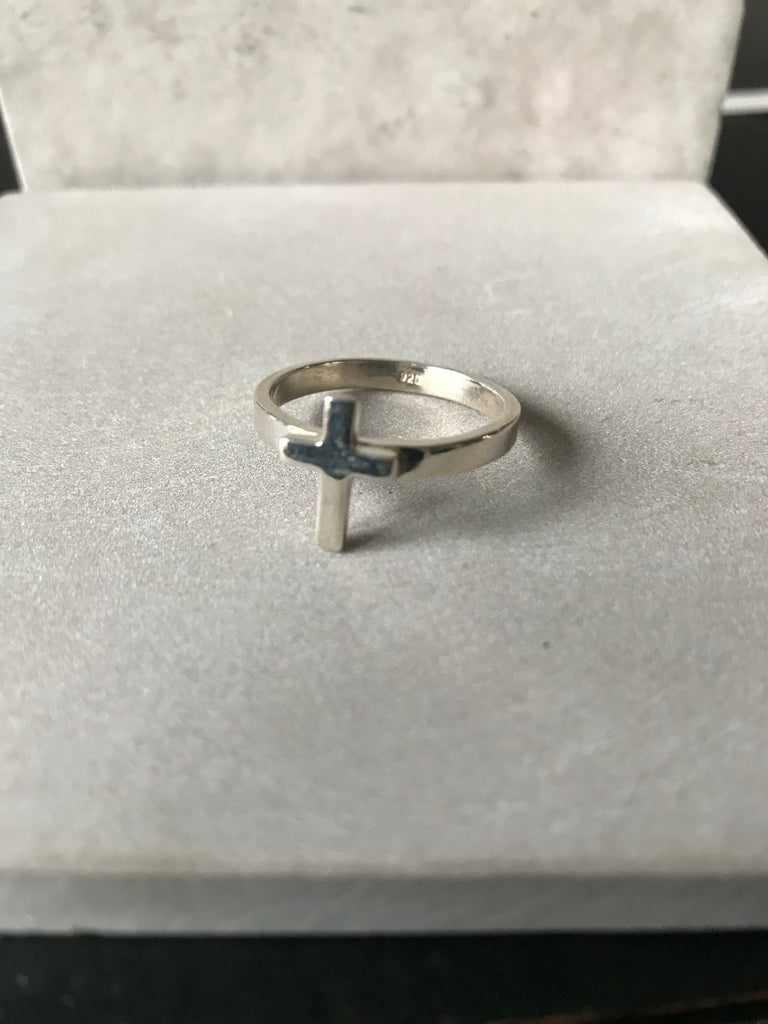WDTS 925 Silver Small Cross Ring