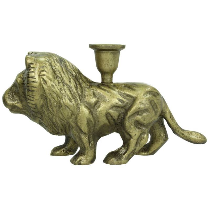 Lion Candle Holder Bronze 15x6x28cm