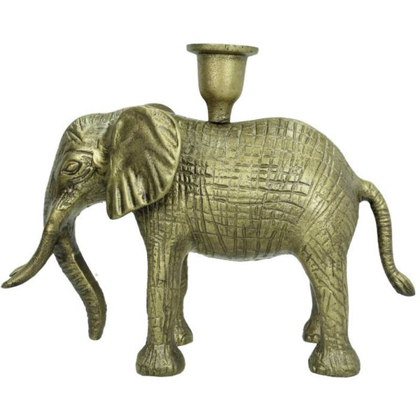 Elephant Candle Holder Bronze 20x10x26cm