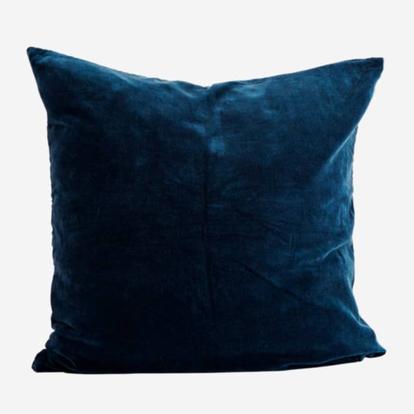 Square Velvet Cushion - Blue