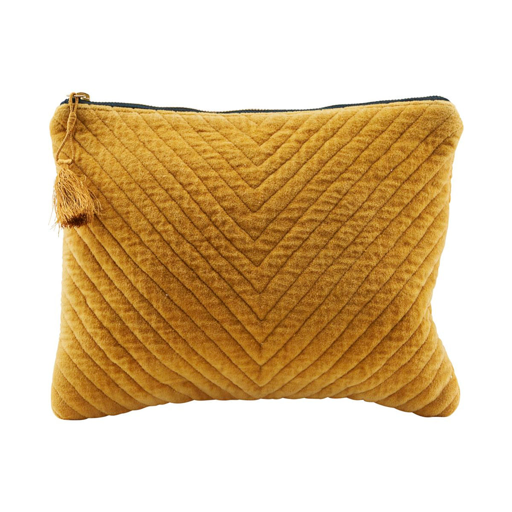 Pouch, Mila, Mustard - Large