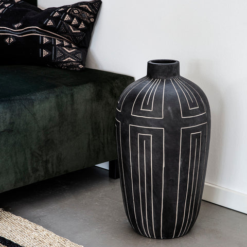 ALJECO Vase, GREY/BLACK Tall