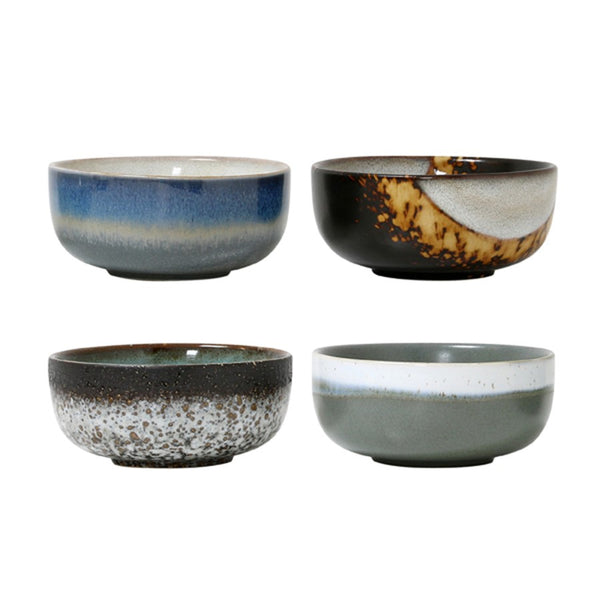 ceramic 70's bowl: set of 4