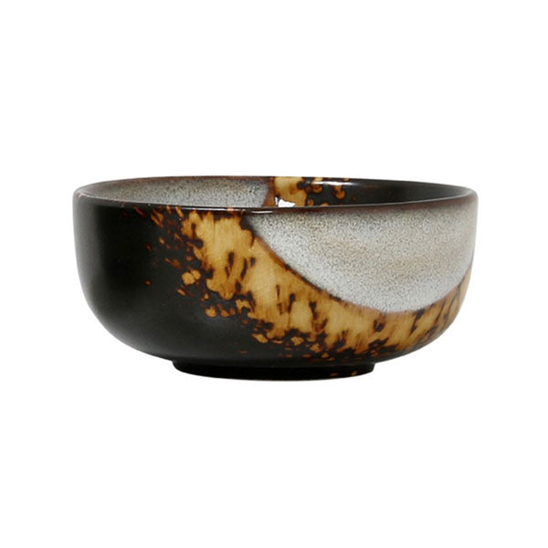 ceramic 70's bowl: flame