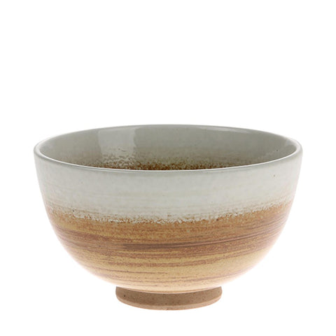 Kyoto ceramic Brown/White Bowl
