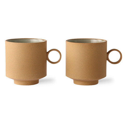 bold & basic ceramics: coffee mug ochre (set of 2)
