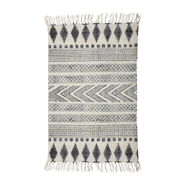 Small Block Rug - Grey/Black